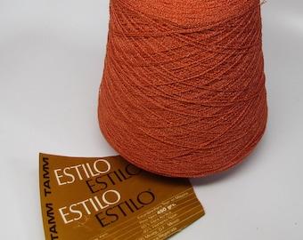 Yarn on Cone - Orange - Acrylic Nylon