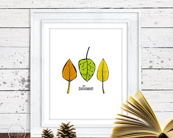 Sketched Leaves - Autumn Instant Printable