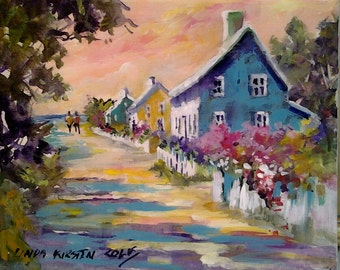 For Love of Nantucket, 8x10 on canvas ready for you to frame.......