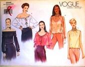 vogue basic design pattern 2594 ~ misses blouse ~ (2001) ~ UNCUT