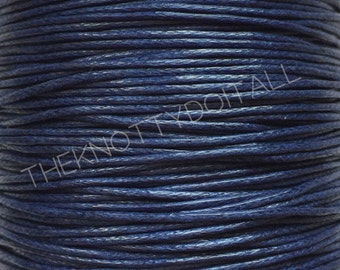 100 Yards Waxed Cotton Navy Blue