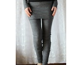 felted wool leggings with skirt cuffs and long legs  - SHEPARD felted wool range - made to order