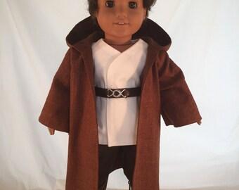 American Girl Sized Jedi style Costume Star Wars