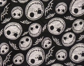 Jack Skellington Knit Fabric - Nightmare before Christmas Fabric - Jack Skellington on BlackJersey Knit Fabric - by the yard The Fabric Zoo