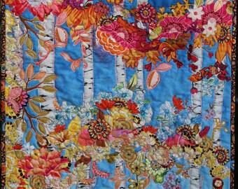 MarveLes COLLAGE Paper Pattern AUTUMN GLORY Flower Leaves Glacier Park  Montana Blue Sky Purple Pink Peach Yellow