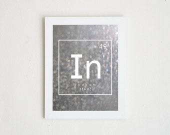 INDIUM | periodic table photo print