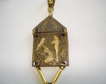 Pearl Antique Egyptian Revival Pendant