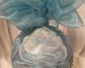 Hand Painted Roses, Christmas Ornament by MontanaRosePainter, Signed. One of a Kind...Item #230