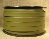 10mm Regaliz Premier Flat Leather - Olive - 10M-P12 - Choose Your Length