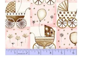Marcus Fabrics Bella Baby Pink Buggy