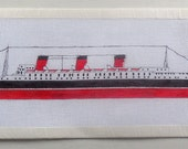 RMS Queen Mary hand painted needlepoint canvas