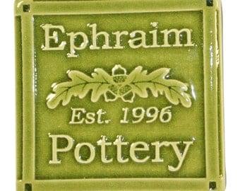 Ephraim Faience Pottery 2011 Est. 1996 Tile