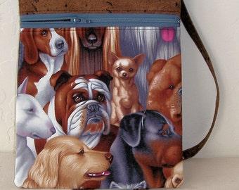 Gifts for dog lovers, Mini dog bag, shoulder cell phone mini bag- dog walking fanny pack, running bag, passport holder, dog walking KBD10128