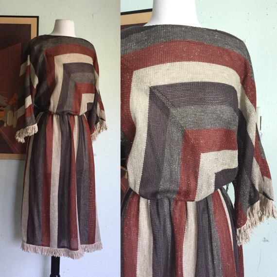 Vintage Leslie Fay Striped Dress