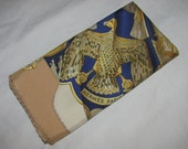 Vintage Hermes Silk Scarf Carre - Soleil De Soie by Cathy Latham - Gold, Beige, Blue Colourway - Very Good Condition, Care Tag