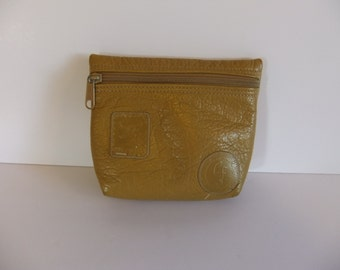Carlos Falchi Make Up Bag - Zipper Pouce - Purse - Coin Purse - Leather Case - The Buffalo