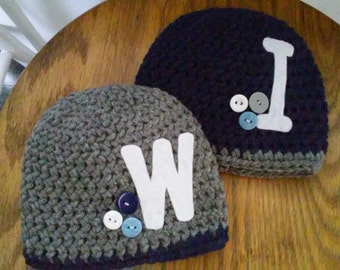 twin initial hats