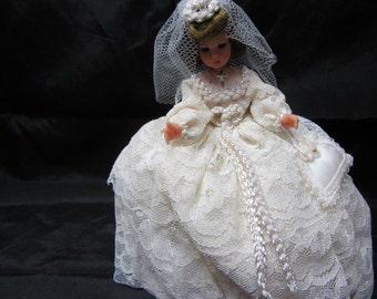 Bridal Doll, Collectible Bride Dolls 1950's era, Wedding Doll, Bridal Doll, Doll Bride, Decorative Doll, Mid Century Doll