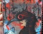 Bird Art, Crow Original Acrylic Painting Canvas, My Spirit