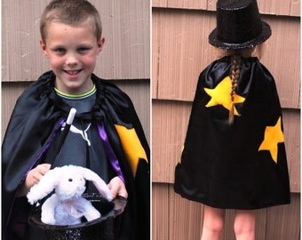 Handmade Child Cape Magician Cape Halloween Kids Children  Photo Prop