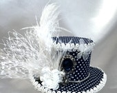 Victorian,SteamPunk, Lolita mini top hat hair fascinator, weddings, costume, Photo shoot, party
