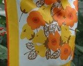 Vintage Vera Neumann Neck Scarf Orange Poppies
