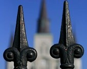 """New Orleans Photograph """"Steepled"""" Art Print. Mardi Gras, St. Louis Cathedral Jackson Square Louisiana French Quarter. 8x10, 11x14, 16x20."""