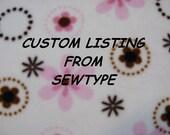 Custom Order for Bea