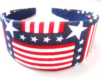 Patriot Flag Headband 2 Inch