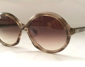 50% OFF SALE 80's Vintage Sunglasses---Deadstock Jackie O Style Round Frame Ladies Shades