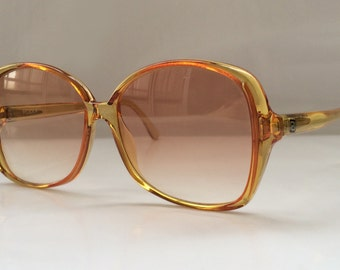 SALE 35 % OFF 80s Vintage Honey Color Oversized Womens Ladies Sunglasses