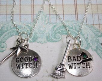 Best Friend Necklace, Friendship necklace, best friend gift, necklace set, best witches