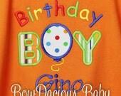 Birthday Boy Shirt, Balloon Birthday Boy, First Birthday Boy, Personalized Birthday Shirt