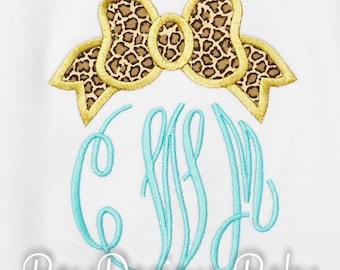 Girls Monogram Initial Shirt, Bow Initial Shirt, Bow Monogram Shirt, Custom Colors and Fabric, Monogrammed Birthday Gift