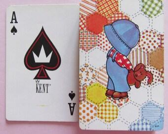 Complete Deck of Sunbonnet Sam Vintage Playing Cards