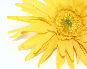 Yellow Gerbera Spider Daisy - Artificial Flowers, Silk Flower Heads - PRE-ORDER