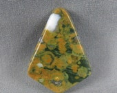 Rain Forest Jasper Cabochon for wire wrap bead or silver smith jewelry Green