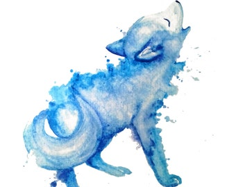 minimalist watercolor print: Little Voice