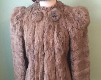 1930s  1940s  vintage  wool fur  hat and jacket size s-m  SALE