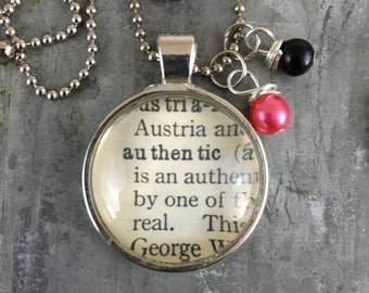 Dictionary Word Necklace - Authentic