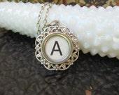 Typewriter Key Jewelry - Initial A