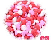 Valentine's Day Heart Sprinkles in Red, Pink and White, Heart Sprinkles, Sweetheart Sprinkles, Cupcake Sprinkles, Cake Pop Sprinkles