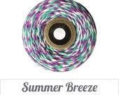 Summer Breeze Bakers Twine, Aqua Bakers Twine, Purple Bakers Twine, Cotton Twine, Gift Wrap, Baker's Twine, Bakers String (15 yds)