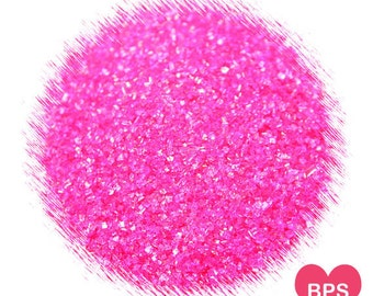Hot Pink Sanding Sugar, Pink Sprinkles, Valentine's Day Sprinkles, Cocktail Rimming Sugar, Edible Sprinkles, Pink Sugar Glitter
