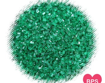 Dark Green Sparkling Sugar, Dark Green Sprinkles, Christmas Sprinkles, St. Patrick's Day Sprinkles, Cookie Sprinkles, Coarse Sugar