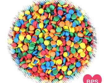 Mini Rainbow Polka Dot Sprinkles, Mini Confetti Quins, Rainbow Sprinkles, Rainbow Sequins, Edible Sprinkles, Confetti Sprinkles