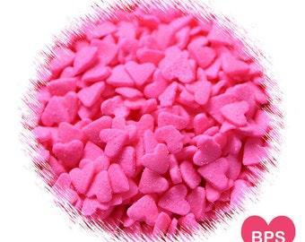 Pink Heart Sprinkles, Cupcake Sprinkles, Cake Pop Sprinkles, Valentine Sprinkles, Valentine's Heart Sprinkle, Wedding Sprinkles, Heart Quins