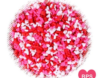 Mini Valentine's Heart Sprinkles, Mini Heart Sprinkles, Tiny Heart Cupcake Sprinkles, Edible Sprinkles, Cake Sprinkles, Quin Sprinkles