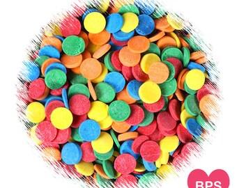 Rainbow Polka Dot Sprinkles, Confetti Quins, Rainbow Sprinkles, Rainbow Confetti Sprinkles, Cake Pop Sprinkles, Edible Sprinkles