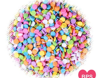Mini Pastel Rainbow Polka Dot Sprinkles, Mini Confetti Dot Quins, Pastel Rainbow Sprinkles, Confetti Cake Sprinkles, Easter Sprinkles
